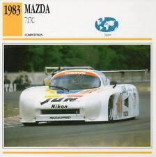 1983 MAZDA 717C Racing Classic Car Photo/Info Maxi Card