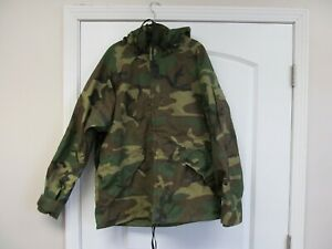 Military Gore-Tex Woodland Camo Cold & Wet Weather Hooded Parka Medium Regular
