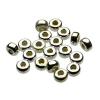 925 Sterling Silver Rondell Donut spacer Beads ITALY