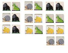 2 Contenitori porta giochi cubi portaoggetti 100% poliestere animali a scelta
