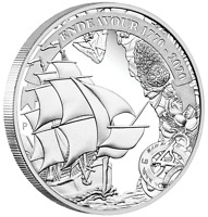 2020 VOYAGE OF DISCOVERY ENDEAVOUR 1770-2020 1oz $1 SILVER PROOF COIN
