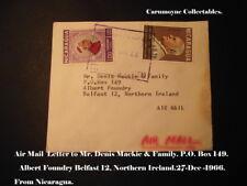 Air Mail Lettre à M. Denis Mackie & Family Albert Foundry Belfast. AH0277.