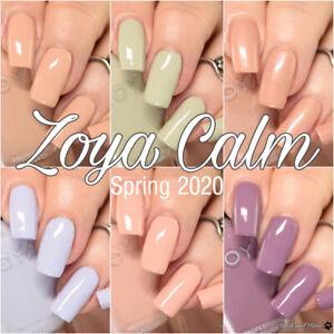 Zoya - Calm Collection - Pale Pastel Creme Nude Green Blue Nail Polish 15ml