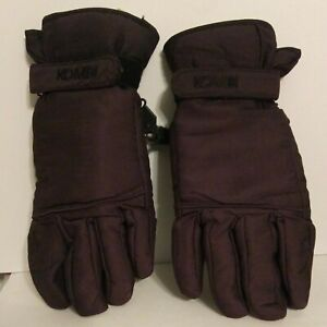 Kombi Women's Black Gloves Size Large Leather Palm & Fingers