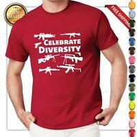 funny Celebrate Diversity Pro Gun T-shirt 2nd Amendment Bullets, AR15 Gun Rights