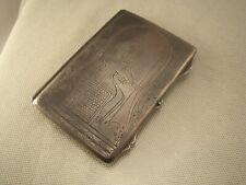 "VINTAGE ANTIQUE EGYPTIAN REVIVAL ""HORUS"" 800 SILVER BUSINESS VISIT CARD HOLDER"