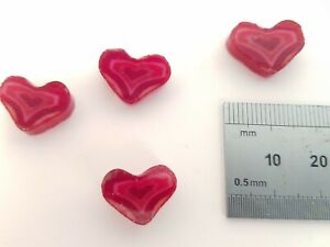 Fused Glass Materials and Supplies - Millefiori Red Heart (90 COE)