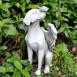 Angel Dog Butterfly Resin Statue Sculpture Figurine Home Garden Office Decor Art