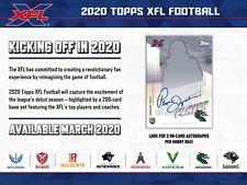 2020 Topps XFL Football Hobby Box