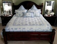 GORGEOUS NEW (13 PIECE) BLUE JCP QUEEN COMFORTER SET JC PENNEY by CHRIS MADDEN