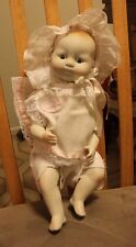 "Darice New Born  Porcelain Collectible Doll USA (Glass Eye Look) ""Lovalita"""