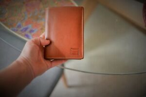 Unisex Compact Trifold Genuine Leather Wallet
