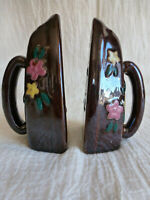 Vintage Stoneware Sad Iron Salt & Pepper Shakers