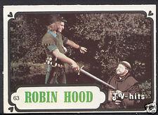Monty Gum Card - 1986 TV Hits - Robin Hood - Card No 63