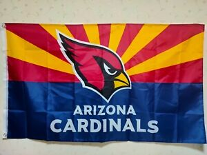 Arizona Cardinals Arizona State Flag 3X5 FT NFL Banner Polyester FAST SHIPPING!!