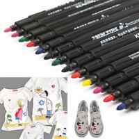 New Permanent Fabric Paint Marker T-Shirt Pen For Shoes Clothes DIY Graffiti