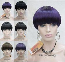 Excellent Mushroom head Short Straight Bangs Women Daily Hair wig Hivision #9840