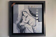 Capoletto 102x102 Salvadori Arte Madonna con Bambino numerato 22/200 t1