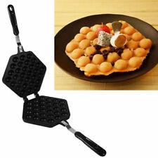 Non-Stick Bubble Waffle Egg Cake Maker Making Pan Egg Puffle Induction Egg Bake