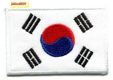 SMALL FLAG PATCH PATCHES South Korea korean IRON ON COUNTRY EMBROIDERED