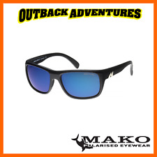 MAKO SUNGLASSES APEX MATT BLACK FRAME BLUE MIRROR GLASS LENS M01-G1HR6