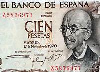 Espagne SPAIN ESPANA Billet 100 PESETAS 1970 P152 MANUEL DE FALLA NEUF UNC