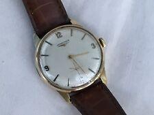 1960's 9ct Gold Longines Gentlemans Wristwatch, Hallmarked 1968
