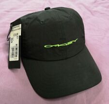 Oakley Black Blackout 6 Panel Stretch Cap Hat Racing Size S/M 56 New With Tags