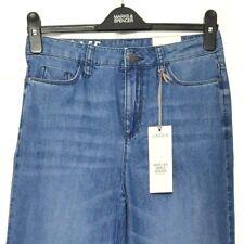 M&S MARKS s10 Med Reg Limited bleu moyen Hi Rise Jambe Large Cheville Grazer Jeans BNWT