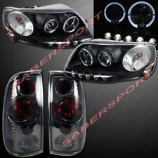 Black Halo Projector Headlights + Smoke Taillights for 1997.8-2003 Ford F-150