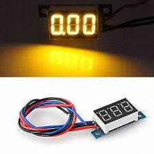 LED Mini Voltmeter Voltage Indicator Panel Meter DC 0-9,99V 20 mA Yellow New