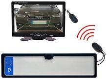 """Einparkhilfe & Rückfahrkamera mit Nummernschildhalter Funk & Monitor 7"""""""