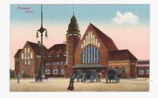Ak Stralsund. Bahnhof