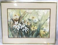 Pam Brooks Zohner Garden Residents Watercolor On Paper Signed Framed Art Print