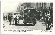 Pamlin M3121 Gloucester Trams RP PPC, Horse Tram Changing Over, Southgate St