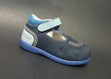 Brand New $80 KICKERS Shoes Baby Boys LEATHER Fashion Blue Size 3,5 USA/19 EURO