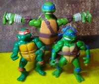 Lot of 3 Teenage-Mutant-Ninja-Turtles Action-Figures