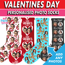 Personalised Photo Socks Valentines Day Gift Add Any Photos Choice of 16 Designs