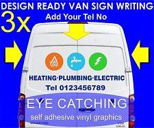 3 x Elettrico Riscaldamento A Gas segno-scrittura Autoadesivo GRAFICA ADESIVI IMPERMEABILE