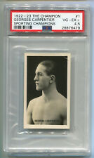 1922-1923 The Champion Sporting Boxing Card 1 Georges Carpentier PSA 4.5 HOF vtg