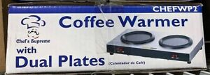 Chef's Supreme WP2 Stainless Coffee Warmer with Dual Plates