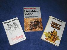Danish translations: WAR, MILITARY & GUN-RUNNING NOVELS: Jones; Driscoll; Murphy