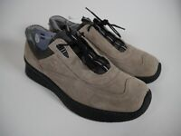 ECCO Soft STONE Suede Walking Comfort Sneakers Lace Womens 38 EUR 7 -7.5 US NEW!