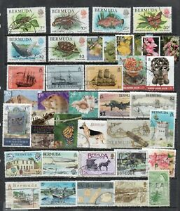 Bermuda A group of 38 Different Stamps  used Fine