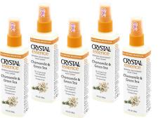 5 x 118ml CRYSTAL ESSENCE Body Deodorant Spray - Chamomile & Green Tea