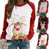 Women's Christmas Jumper Pullover Loose Sweatshirt Ladies Xmas Dress Blouse Tops