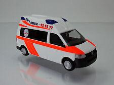 Rietze 53604 VW Ambulanz Mobile Hornis Silver DKT Rettungswagen Hamburg 1 87