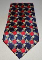 The Metropolitan Museum of Art Blue Red Daisy Floral Silk Men's Necktie Tie