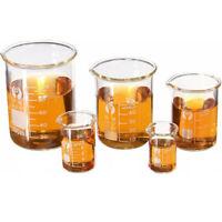 5/15/25/50/100ML Becherglas Messbecher Glas Labor Borosilicatglas Becher [DE]