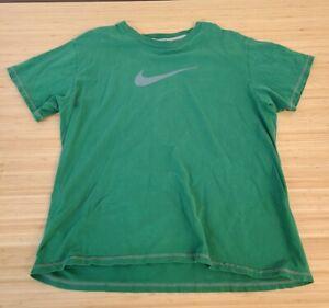 Vintage Nike Silver Tag Y2K Nike Logo Swoosh Green Large Shirt